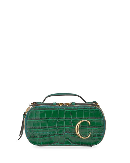Chloe C Multi Crocodile-Embossed Crossbody Bag