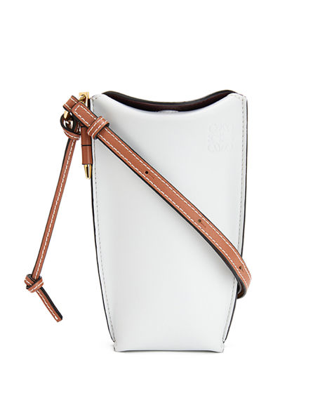 Loewe Gate Two-Tone Smooth Bucket Bag