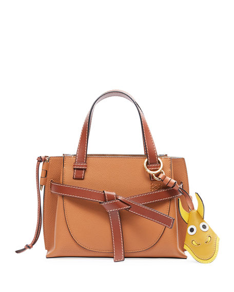 Loewe Gate Mini Leather Top-Handle Tote Bag
