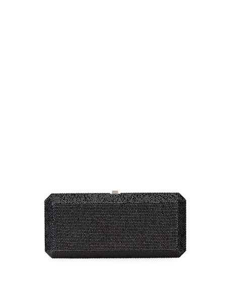Judith Leiber Couture Slim Rectangle Fullbead Clutch Bag