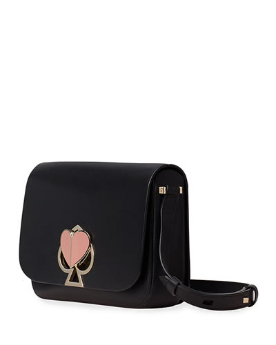 kate spade new york nicola medium twist-lock leather shoulder bag