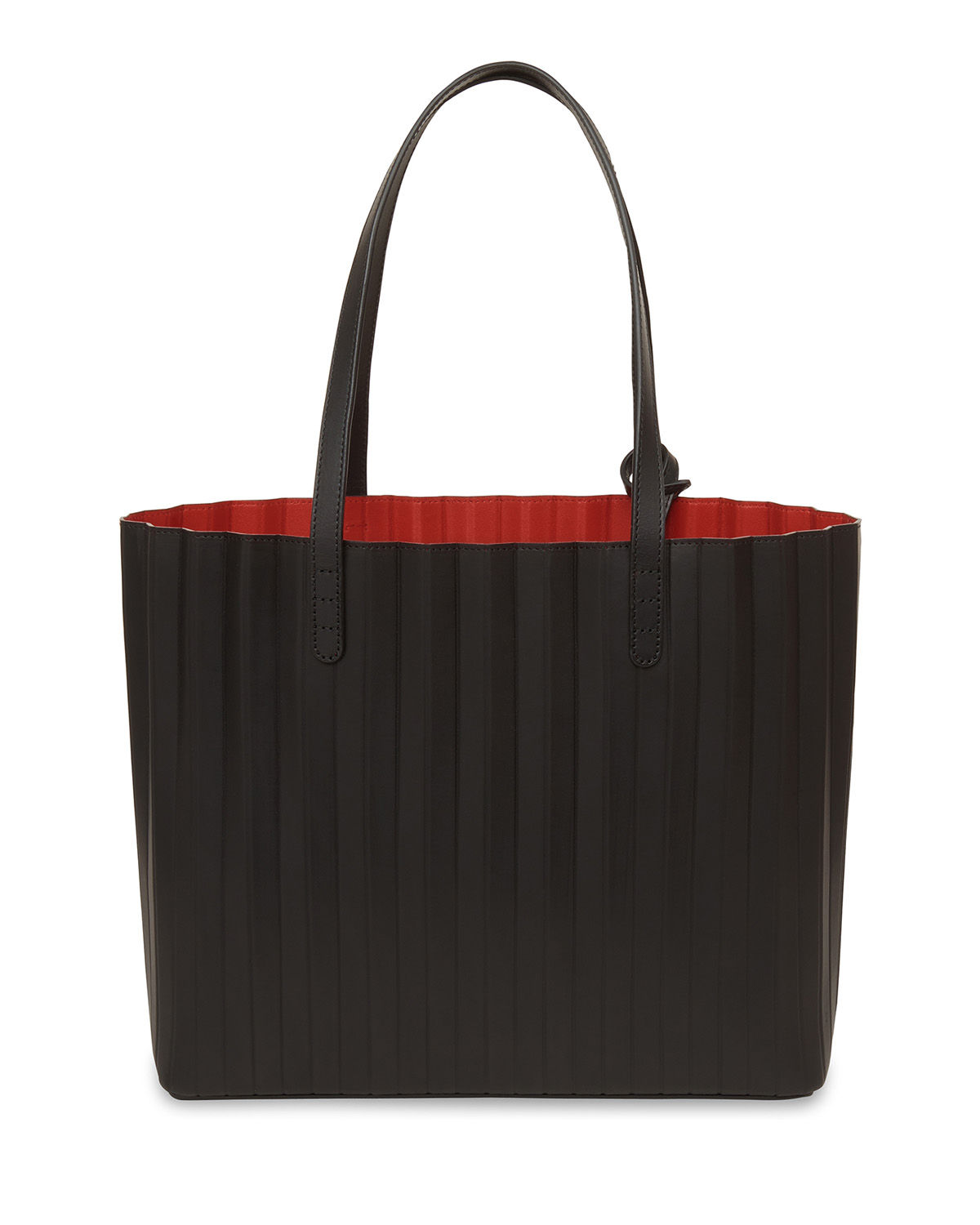 Vegetable-Tanned Pleated Tote Bag