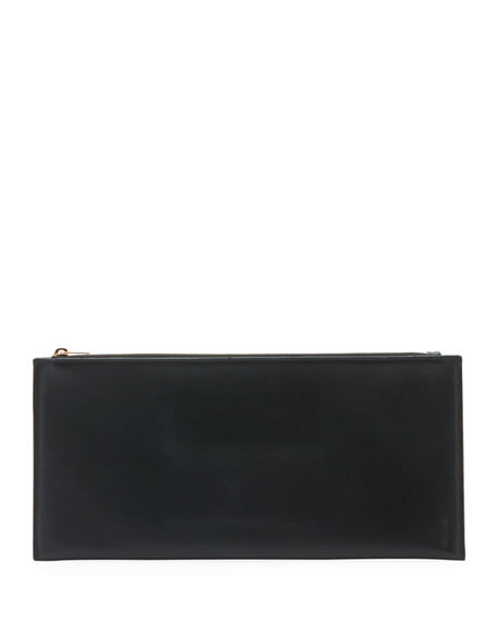 THE ROW Flat Clutch Bag in Shiny Calfskin