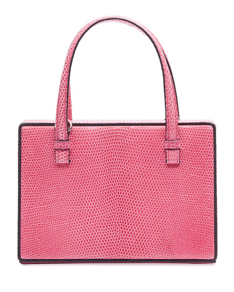 Loewe Postal Small Lizard Top Handle Bag