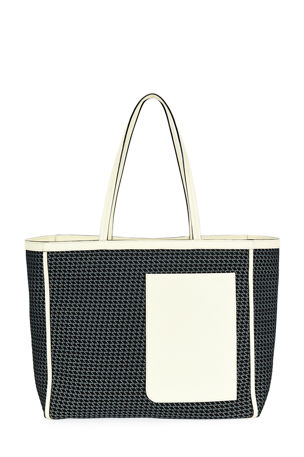 Valextra Borsa Soft Tessuto Shopping Tote Bag