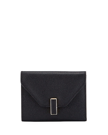 Valextra Iside Leather Flap Wallet