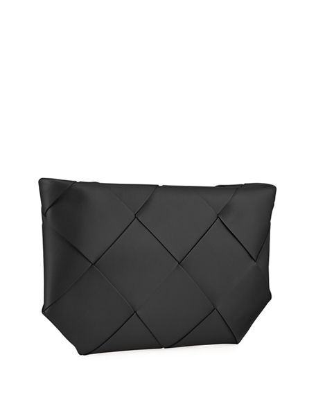 Image 3 of 4: Bottega Veneta Maxi Blown-Up Intrecciato Leather Pouch Bag