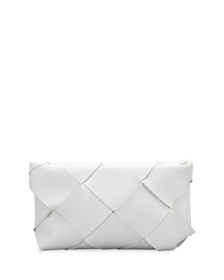 Bottega Veneta Maxi Blown-Up Intrecciato Leather Pouch Bag