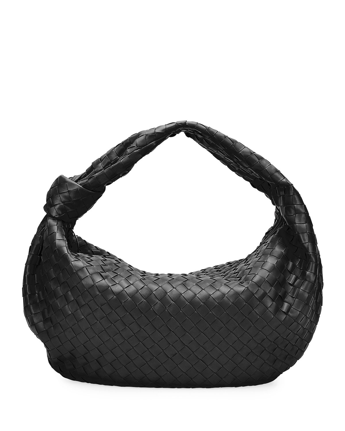 The Jodie Large Intrecciato Woven Leather Hobo Bag