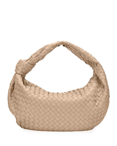 Large BV Jodie Intrecciato Woven Leather Hobo Bag
