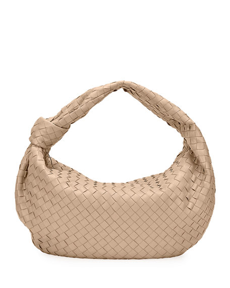 Bottega Veneta Large BV Jodie Intrecciato Woven Leather Hobo Bag