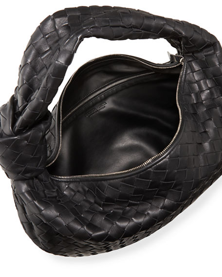 Image 2 of 4: Bottega Veneta Small BV Jodie Napa Intrecciato Hobo Bag