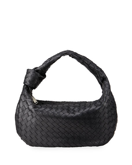 Image 1 of 4: Bottega Veneta Small BV Jodie Napa Intrecciato Hobo Bag
