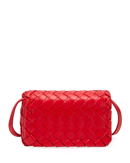 Bottega Veneta Mini Full Flap Intrecciato Crossbody Bag