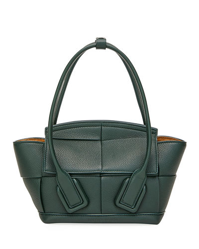 Arco 33 Mini Grainy Leather Top-Handle Bag