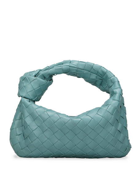 Bottega Veneta Jodi Mini Intrecciato Knot Hobo Bag