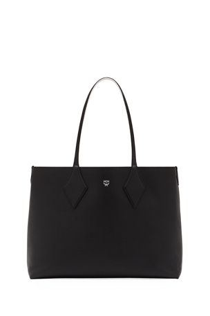 MCM Shopper Project Medium Leather Tote Bag