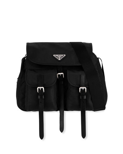 Nylon Messenger Crossbody Bag