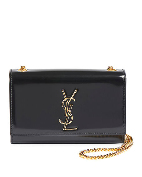 Saint Laurent Kate Small Shiny Box Crossbody Bag