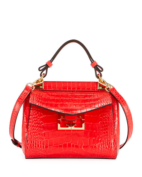 Givenchy Mystic Mini Croc-Embossed Bag