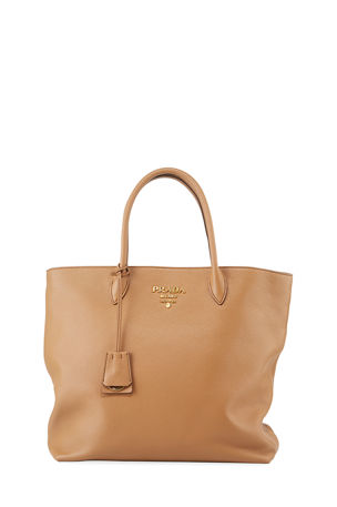 Prada Daino Shopper Tote Bag w/ Removable Crossbody Strap