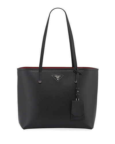 Saffiano Leather Shoulder Tote Bag