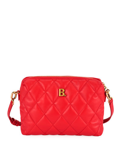 B Quilted Camera Crossbody Bag