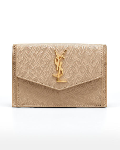 Saint Laurent YSL Flap Top Leather Envelope Wallet