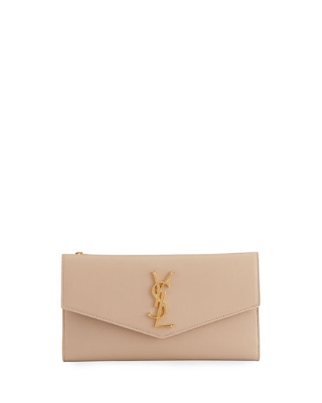 Saint Laurent YSL Leather Envelope Wallet