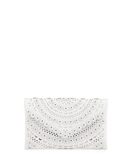 ALAIA Oum Cutout Envelope Clutch Bag
