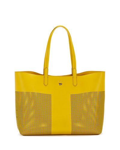 Small Graphic Perforated T Tote Bag