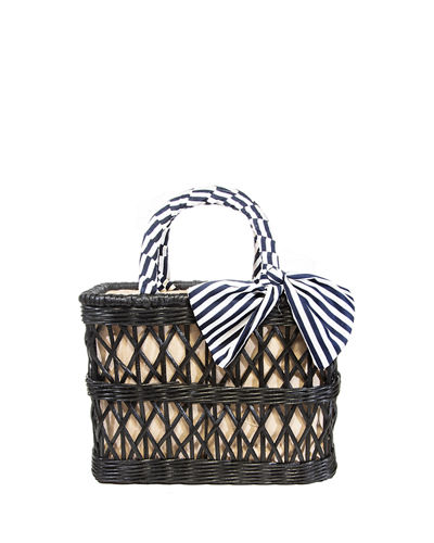 Ann Rattan Basket Tote Bag