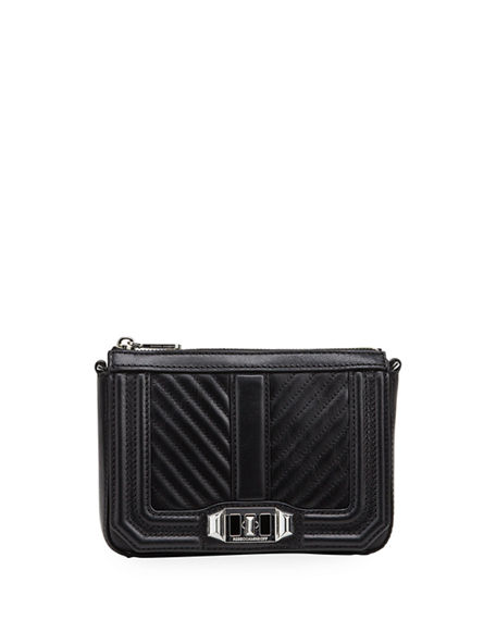Rebecca Minkoff Love Chevron Quilted Top-Zip Bag