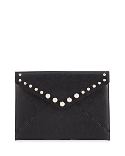 Leo Clutch Bag with Pearl Studs