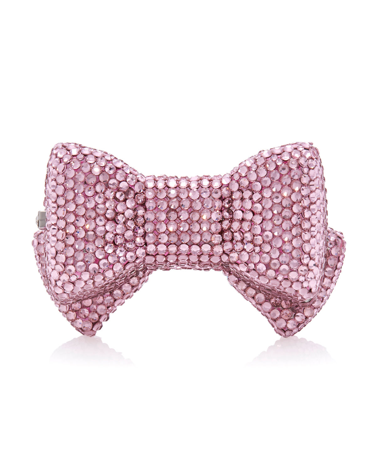 Shimmery Bow Tie Crystal Pillbox