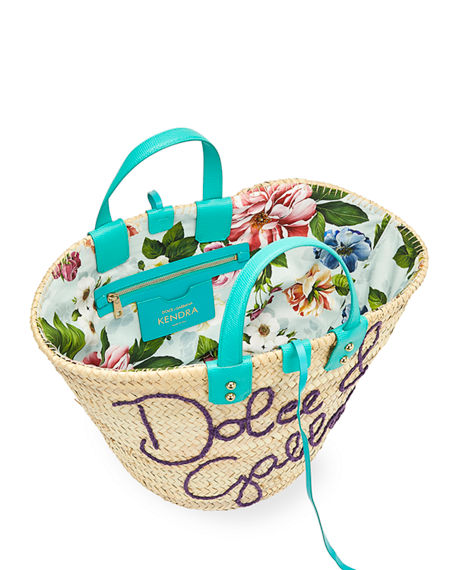 Image 2 of 3: Dolce & Gabbana The Kendra Straw Tote Bag