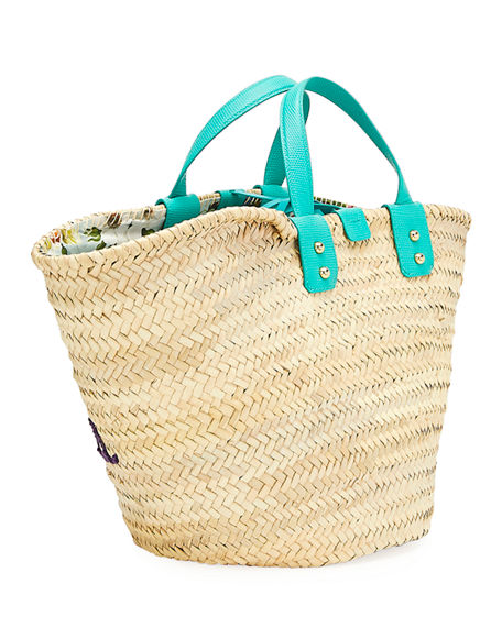 Image 3 of 3: Dolce & Gabbana The Kendra Straw Tote Bag