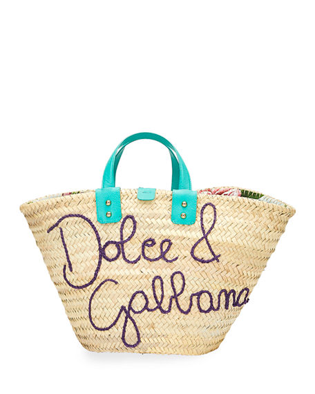 Image 1 of 3: Dolce & Gabbana The Kendra Straw Tote Bag