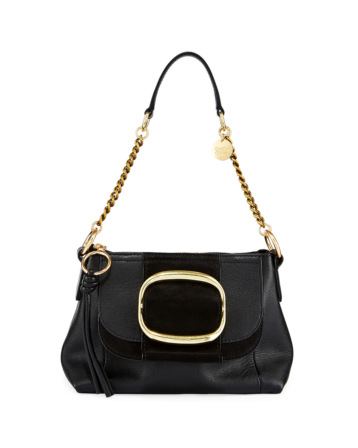 See By Chloé Shoulder HOPPER LEATHER BUCKLE SHOULDER BAG