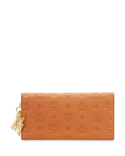 Klara Monogrammed Leather Wallet