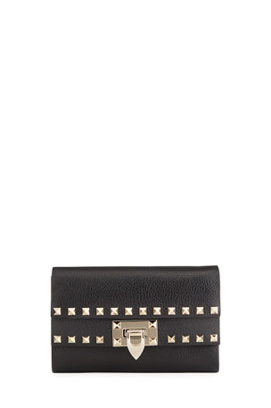 Valentino Garavani Rockstud Leather Crossbody Clutch Bag