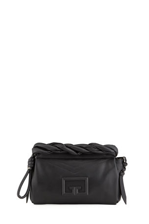 Givenchy ID 93 Leather Crossbody Bag with Twisted Detail