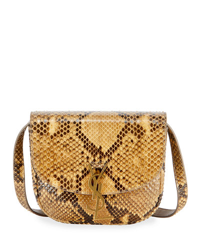 Kaia Small Monogram YSL Python Crossbody Bag