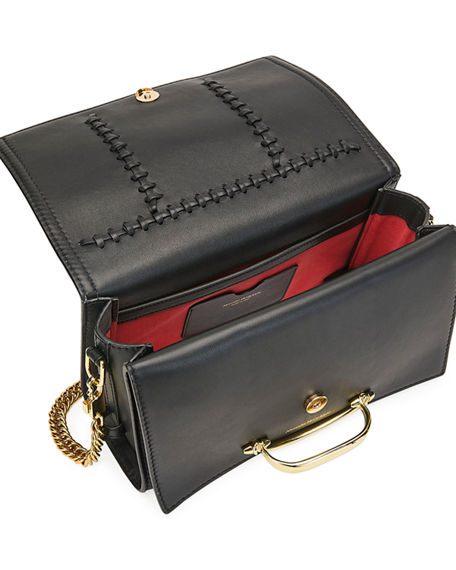 Image 3 of 3: Alexander McQueen The Story Topstitch Leather Shoulder Bag