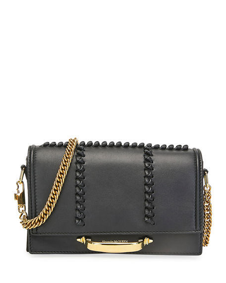 Image 1 of 3: Alexander McQueen The Story Topstitch Leather Shoulder Bag