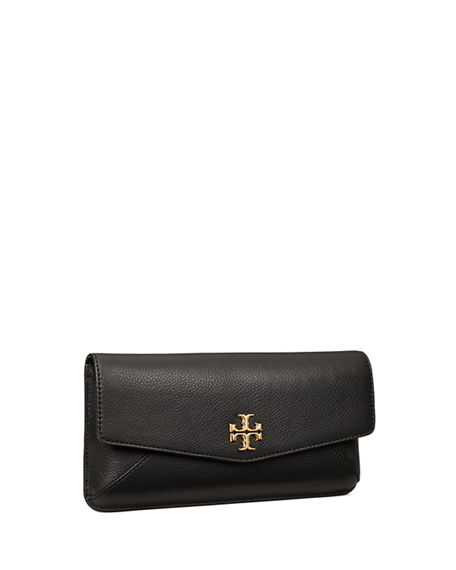 Image 3 of 3: Tory Burch Kira Leather Medallion Clutch Bag