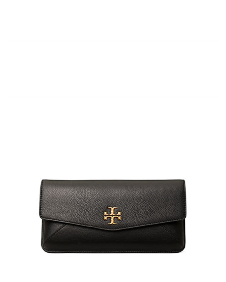 Image 1 of 3: Tory Burch Kira Leather Medallion Clutch Bag