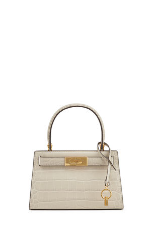 Tory Burch Lee Radziwill Petite Embossed Satchel Bag