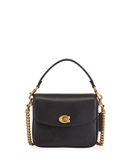 Coach 1941 Pebbled Leather Flap-Top Chain Crossbody Bag