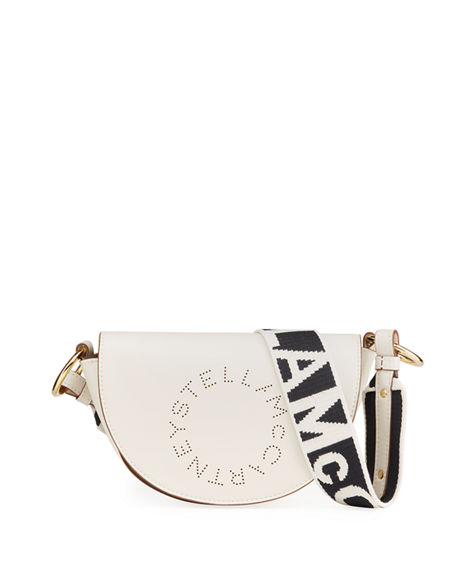 Stella McCartney Logo Flap-Top Shoulder Bag